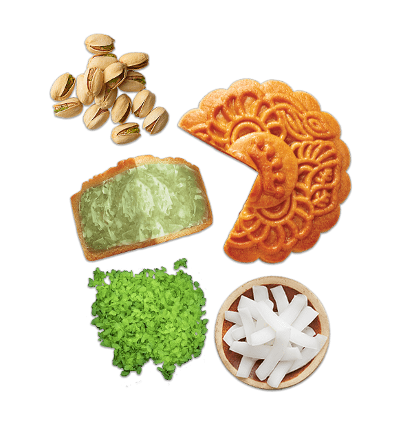 Cốm dừa hạt dẻ